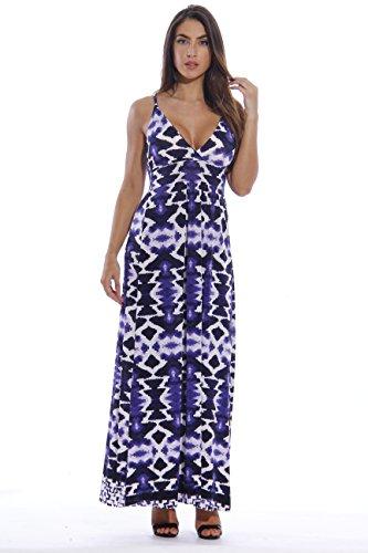Love Tie Dye Dress (8858-56-L Just Love Maxi Dresses for Women  Summer Dresses, Blue Tie Dye,)