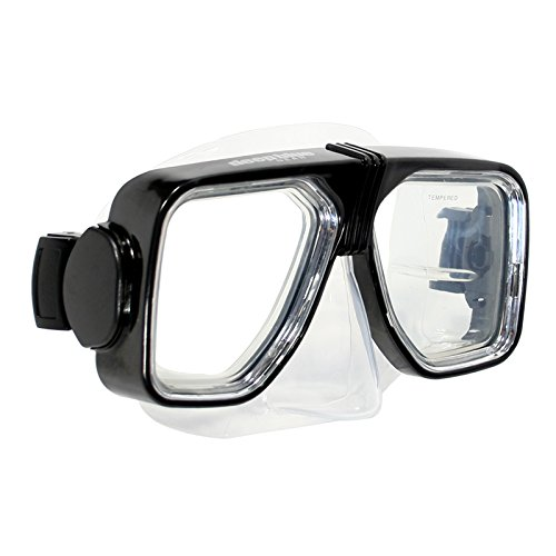 (Deep Blue Gear Diving Snorkeling Mask (Spirit 2) with Optical Corrective Lenses, Black, -7.0 Right and Left)