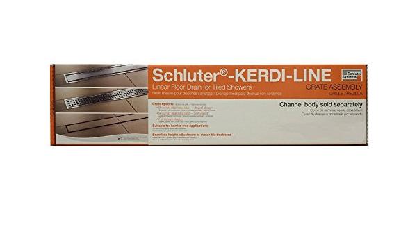 110 cm KLAR19EB110 Closed Grate 43-5//16 Schluter Systems Kerdi Grate Assembly For Linear Shower Drain//Bonding Flange All Types /& Sizes