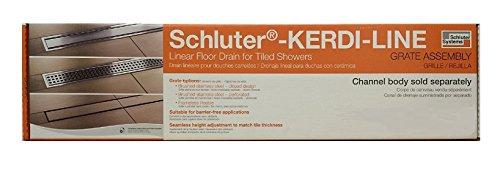 - Schluter Systems Kerdi Grate Assembly For Linear Shower Drain/Bonding Flange All Types & Sizes (KLDRE60 Tileable Center 23-5/8