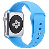 For Apple Watch Band,Goodidus Soft Silicone Fitness Replacement Sport Band for Apple Watch L Size(Blue 42MM)