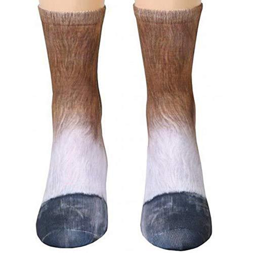 Animal Paws Socks, NDLBS Unisex Adult Novelty Animal Socks Funny Paw Crew Socks for men women]()