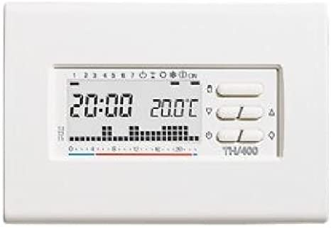 Termostato Electr/ónico Digital Semanal Blanco TH//400/BB