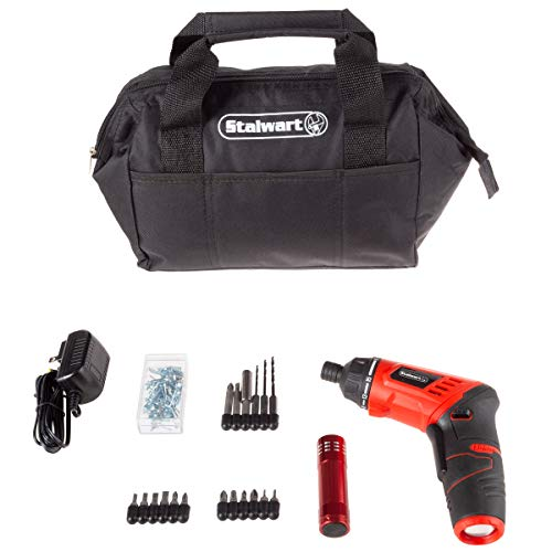 Stalwart 3.6V Cordless Drill with Rechargeable Lithium Ion Battery & 101Piece Accessory Set – Portable Power Tool with Bits, Drivers & Bag