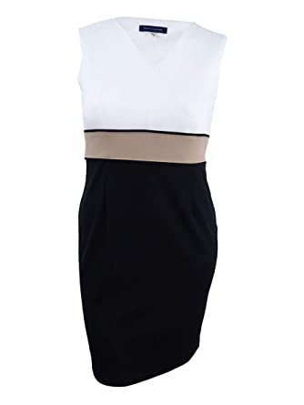 a0bb4b29e3a6a9 Image Unavailable. Image not available for. Color  Tommy Hilfiger Women s Colorblocked  Sheath Dress ...