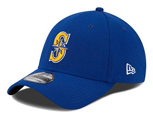 Seattle Mariners Team - MLB Seattle Mariners Team Classic Alternative 2 39Thirty Stretch Fit Cap, Blue, Medium/Large