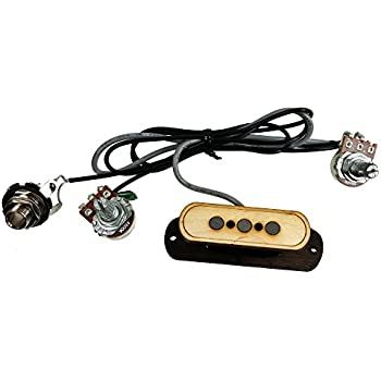 musiclily pre wired 4 string single coil electric cigar box guitar soundhole pickup. Black Bedroom Furniture Sets. Home Design Ideas
