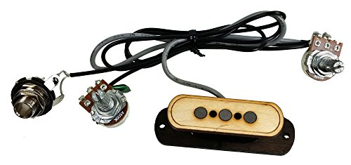 3 string cigar box guitar pickup with volume tone the electric delta no soldering. Black Bedroom Furniture Sets. Home Design Ideas