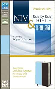 Niv And The Message Side By Side Bible Personal Size Two