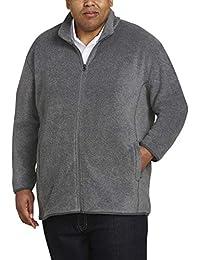Amazon Essentials Big & Tall - chamarra de forro polar con cierre completa Chamarra de lana para Hombre