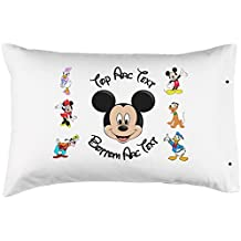 "Personalized Mickey Mouse Pillowcase, Fun - 100% Double Brushed Microfiber With Snap Enclosure - 20""x30"""