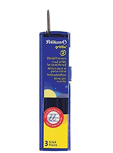 - Pelikan Griffix 2mm Lead Refills for Pencil (Pack of 3)