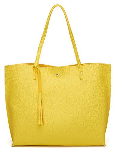 Yellow Leather Handbags - 1