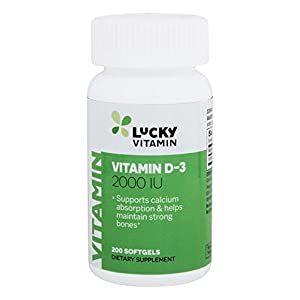 LuckyVitamin – Vitamin D3 2000 IU – 200 Softgels
