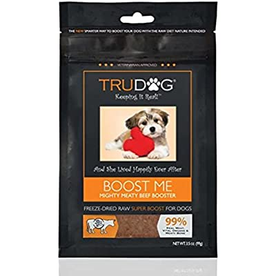 All Natural Dog Food Enhancer - Boost Me: Mighty Meaty Beef Booster (3.5oz) Freeze-Dried Raw Superfood Supplement - Easy to Mix and Enhances The Nutritional Value of Current Dry or Wet Dog Food