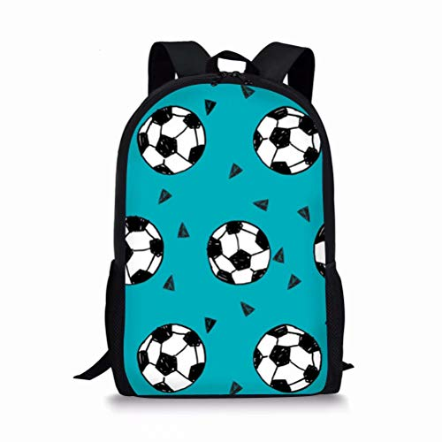 Beauty Collector Football Print School Bag for Girls Student Kids Backpack