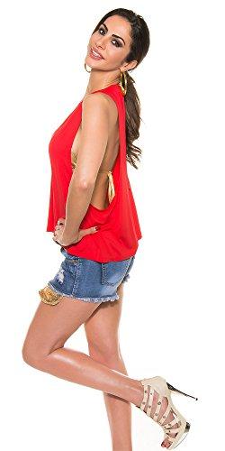 Blanco Store - Camiseta sin mangas - Sin mangas - para mujer Rojo