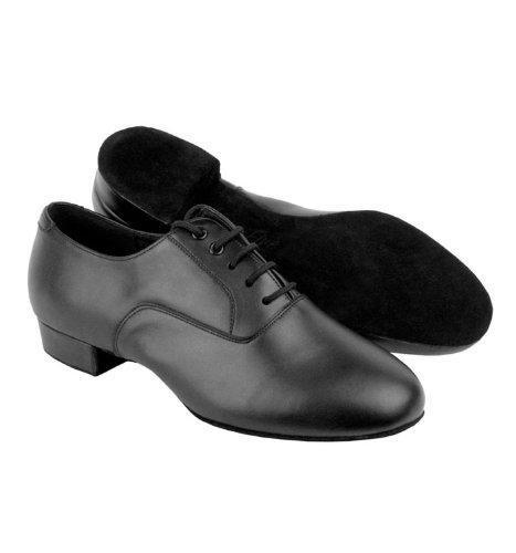 Mens Standard-C-Serie breite Breite Ballroom Schuhe, C919101W Schwarzes Leder