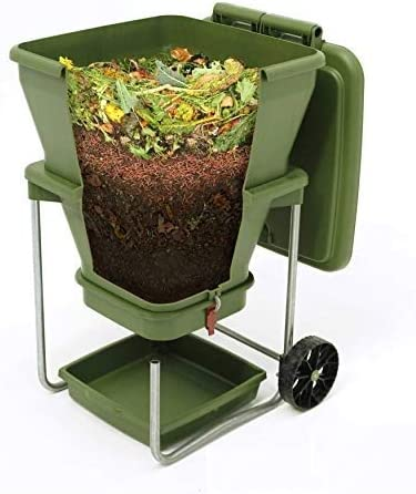 Indoor//Outdoor Continuous Flow Through Vermi Composter for Worm Castings 20 gallons Worm Tea Maker Worm Farm Compost Bin