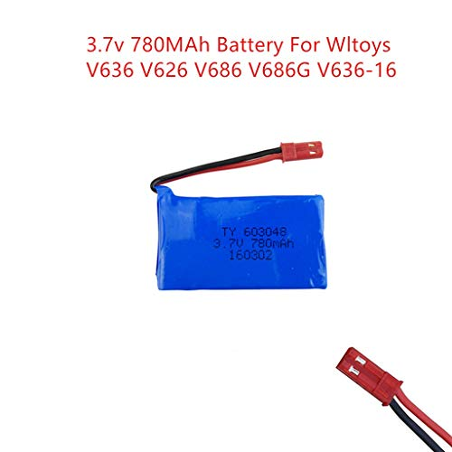 3.7v 780MAh Battery W/Protection Module for WLtoys V686 4CH FPV RC Quadcopter Black