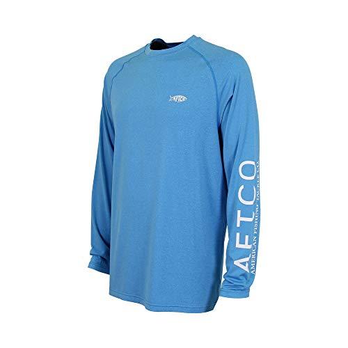 (AFTCO Samurai 2 Performance Long Sleeve Shirt - Vivid Blue Heather -)