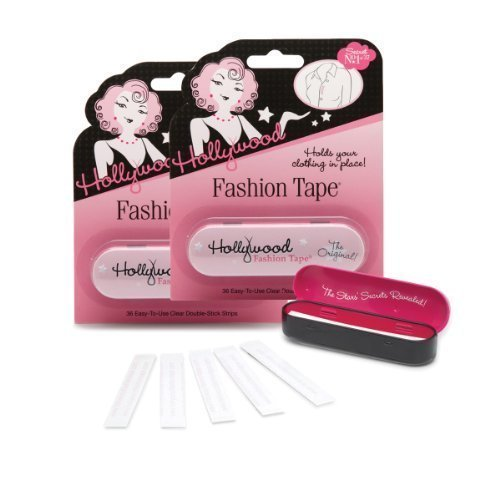 Hollywood Fashion Secrets Double Stick Fashion Tape Strips (36 Strips), 2 Pack