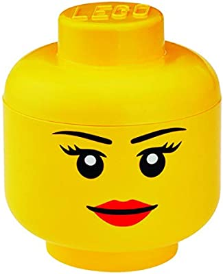 LEGO - Caja de almacenamiento con forma de cabeza de chica (Room ...