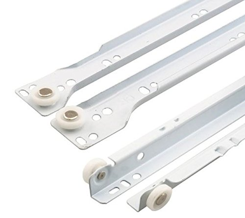 10 X Mprofi (10 paires) Extension de tiroir rail guidage à billes de tiroir roulement L 450 mm coulisse pour tiroir Blanc