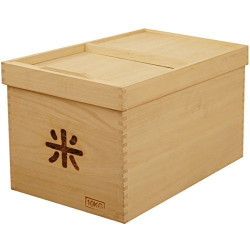 Natural paulownia wood made rice bin [paulownia solid / dehumidifying effect / insect effect] by Conposit