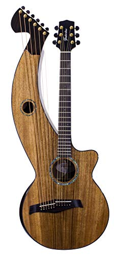 Harp Guitar | 12-String, All Solid Wood, Tropical Silkwood, T70HGc | Timberline Guitar