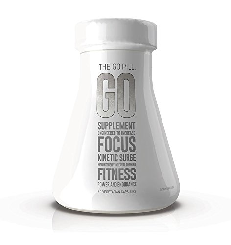 THE GO PILL Mind and Body Lifestyle Enhancer for Energy, Endurance, and Focus, 80 Capsules