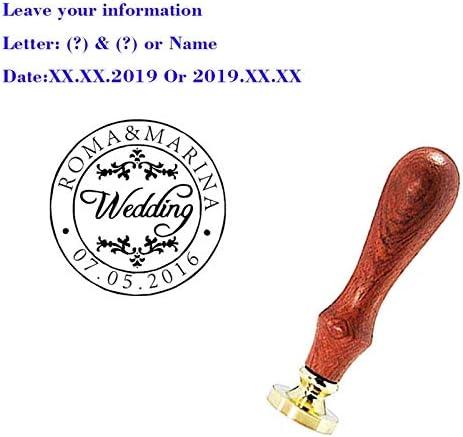 YGHM Custom Sealing Wax Stamp Logo Personalized Image Custom Sealing Wax Seal Stamp Wedding Invitation Vintage Stamp Custom