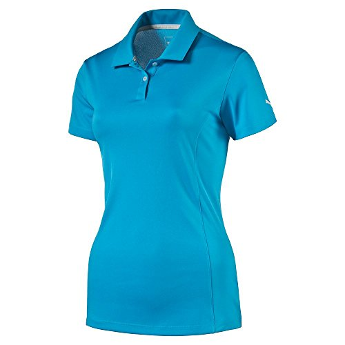 Puma Golf Women's Pounce Cresting Polo Shirt, Atomic Blue, Medium