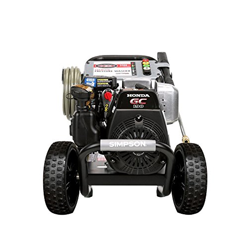 Simpson Cleaning MSH3125-S 3200 PSI at 2.5 GPM Gas Pressure Washer Powered by HONDA with OEM Technologies Axial Cam Pump Power Washer