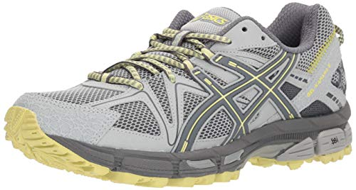 - ASICS Gel-Kahana 8 Trail Running Shoes - Women's, Mid Grey/Carbon/Limelight, Medium, T6L5N.9697-9