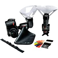 LumiQuest LQ-134 Wedding/Event Kit with Quik Bounce Light Modifier, FXtra Has Gel Holder, UltraStrap Strap