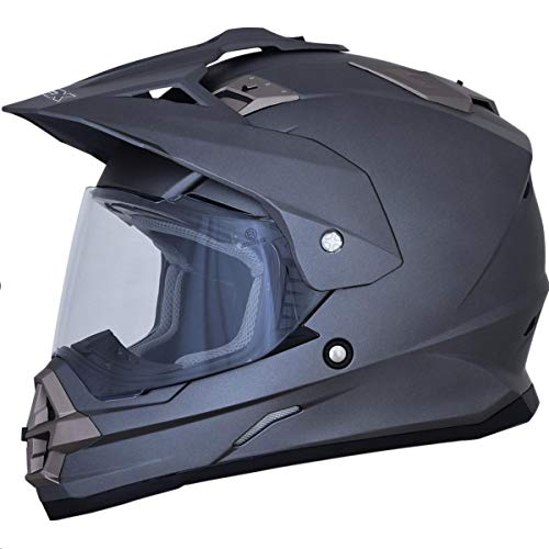 AFX FX-39 Dual Sport Series 2 Solid Helmet Frost Gray (Gray, XX-Large) ()