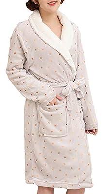 Femaroly Womens Bathrobe Dressing Gown Christmas Birthday Gift Long Ladies Sleepwear Spa Robe