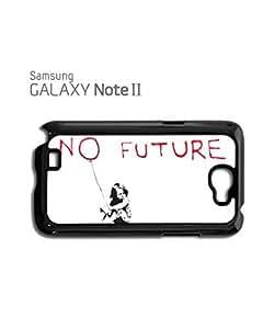 Banksy No Future Balloon Girl Mobile Cell Phone Case Samsung Note 2 Black