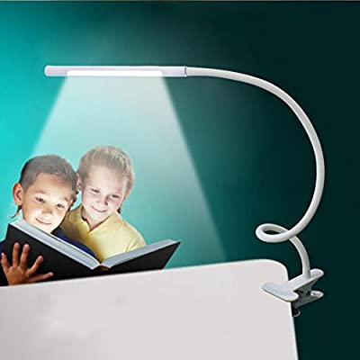 Desk Lamp Bedside Lamp LED Desk Lamp Lights With Acrylic Flat Tablelamp Vision Care Flexible Clip Reading Lamp In Bed Portable Travel Book Light Lighting Mode