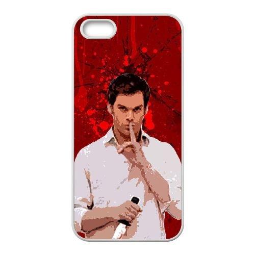 C5O73 Dexter sang V3M2HW coque iPhone 5 5s cellule de cas de téléphone couvercle coque blanche DB4RAZ6ED