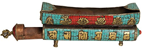 Exotic-India-ZCE36-Tibetan-Buddhist-Incense-Stick-Holder-Cum-Burner