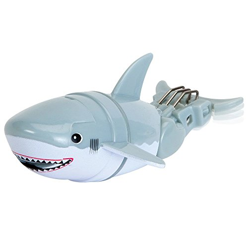 Bits and Pieces - Children's Robotic Swimming Shark - Diving Underwater Bathtub or Pool Toy for Kids (Swimming Pool Shark)