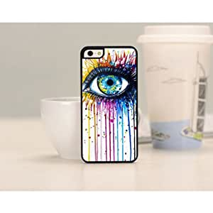 HumaHairWig One pc Painted Beautiful Scenery Hard Back Case Cover Skin For Apple iPhone5c WHD645 (31 eye)