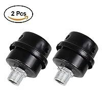 """BBT Air Compressor Silencer Filter, 2 Pcs 1/2"""" 20mm Thread Metal oil-less Air Compressor Intake Filter Noise Muffler Silencer (20mm)"""