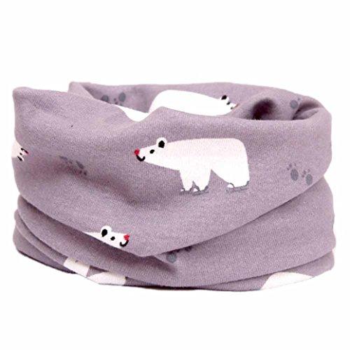 FEITONG New Fashion Multicolor Children Warm Cotton Scarves Boy Girl Scarf Shawl Winter Neckerchief (N)