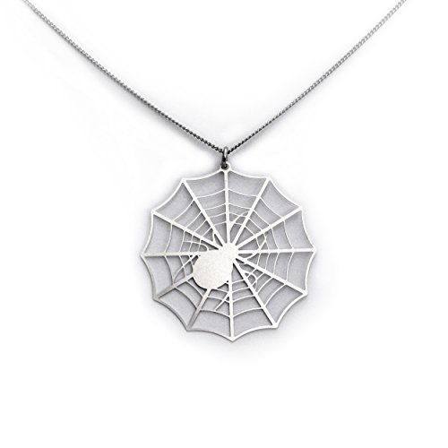 Spider Web - Modern Stainless Necklace -