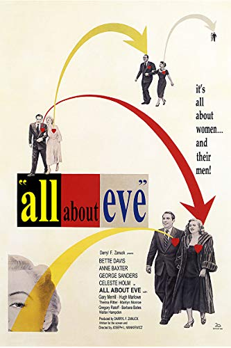 - American Gift Services - All About Eve Vintage Bette Davis Movie Poster - 11x17