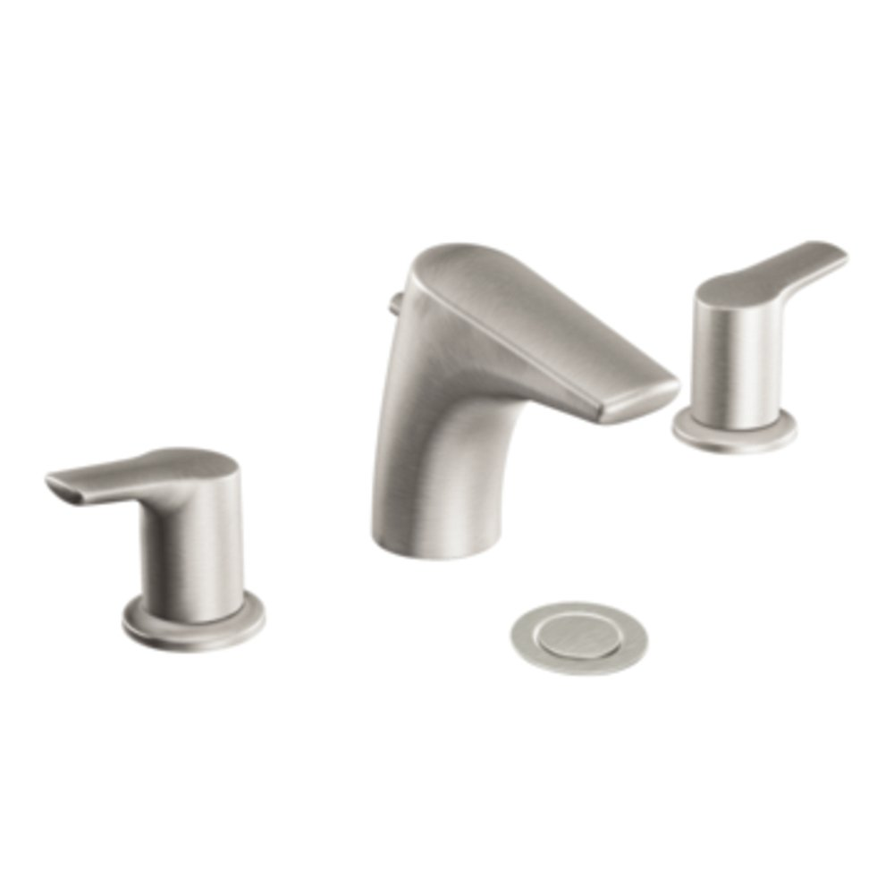 Bon Moen T6820BN Method Two Handle Low Arc Bathroom Faucet Without Valve,  Brushed Nickel   Touch On Bathroom Sink Faucets   Amazon.com