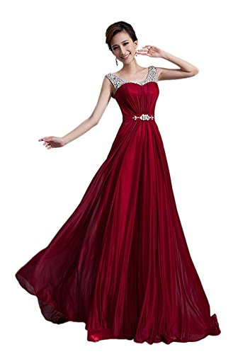 A Kleid Drasawee Damen Gr 42 weinrot Linie 5UBHqBnFA